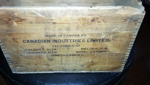 Cool antique explosives wooden cil dynamite crate