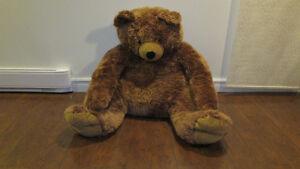 ours geant brun toutou peluche photo enf mai bois pl ma cui gui