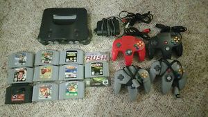 Nintendo N64 System and Games and Controllers