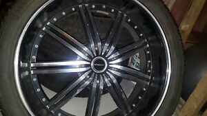 24 Inch Strada Rims with 305-35-24 Inch Tires
