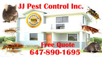 JJ PEST CONTROL INC. WILL BEAT ANY QUOTE BEDBUGS ROACHES MICE!!