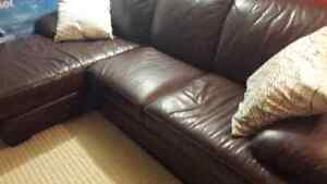 Genuine leather sectional free delivery