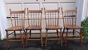 Set of 4 Antique Pressback chairs c.1910