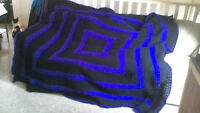 Afghan made by mom to help son for Soccer