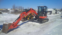 EQUIMENT AND EXCAVATION SERVICES FOR RENT