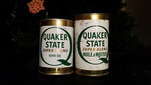 2 Quaker State Motor Oil Cans London Ontario image 1