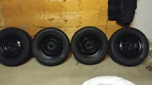 Winter Tires on rims 215/60/16 Camry etc. V.G. Cond. Top Rated