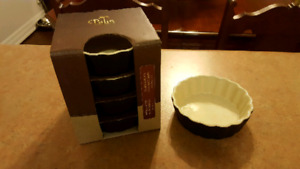 Mini Fluted Flan Dishes - Set of 4