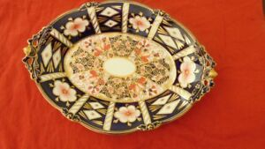 Royal Crown Derby - Traditional Amari pattern Desert Dish