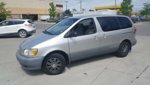 2002 Toyota Sienna, Low Km, 7 Pass, Auto, 3/Y Warranty available