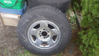 Goodyear wrangler A/T 265/70r17 on Ford F150 6 bolt rims