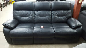 Black reclining couch - Delivery Available