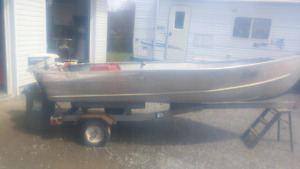 12' aluminum with 9.9 johnson and trailer
