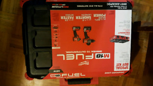 Brand new in the box Milwaukee M18 fuel 2 tool combo kit