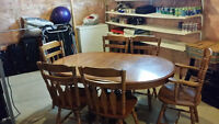 Solid Wood 7 Piece Dining Table Set