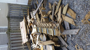 Free wood from deck