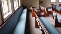 Very comfortable pews like new - $690 each, buy all 12!