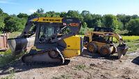 Skid steer & mini excavator service for Stratford area