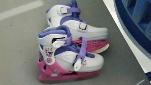 Girls skates adjustable size 13, 1, 2, 2.5 - $15