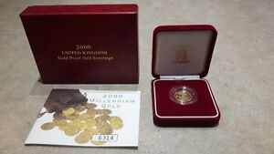 2000 UK Gold Proof Half-Sovereign