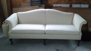 Antique, solid wood chesterfield in excellent condition