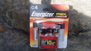 Energizer Max+ C size batteries (pack of 4)