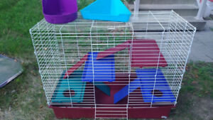 Cage with accessories for sale