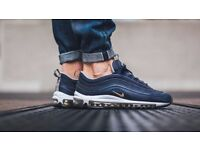 Nike Air Max 97 Trainers MIDNIGHT NAVY / GOLD Size 6 - Brand New in Box Completely Sold Out!