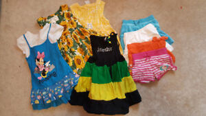 Size 2 and 3 dresses and skirts 3$/all