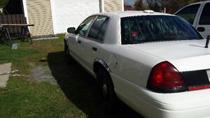 police pack Ford crown victoria