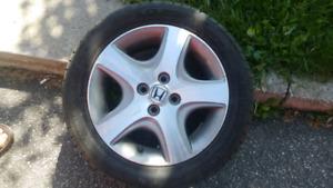 Aluminium ( rims + tires ) 205 50 15 for Honda