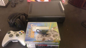 120GB Xbox 360 Elite with Games and Accessories