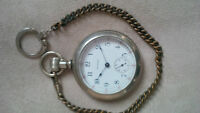 1913 American Waltham Watch Company Pocket Watch and Chain