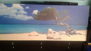 PJATTERYD ENBO. BEACH SCENE PRINT ON CANVAS