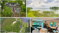 Severn Bridge: **New Price** Waterfront Cottage, Approx 9 Acres