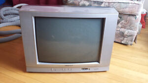 "Two CRT Type 20"" Color TVs and One VHS VCR"