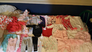 0-3 baby girl like new clothes LOT