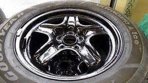 Steel rims 5 x 110 bolt pattern 17 in  New valve stems and paint