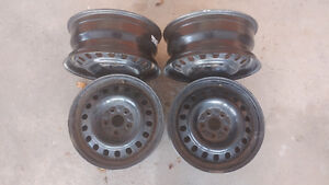 Four steel rims (for winter tires)...  In excellent condition !