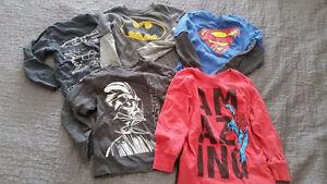 Size 3-4 super hero shirt lot