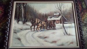 oeuvre du peintre québécois MICHEL TURGEON 36x 48 à 600$!