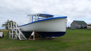 boat for sale 45 foot wood construction , x lobster boat