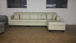 Brand New - Large Leather Sectional MADE IN CANADA $900 OBO