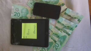 We buy iPhones and androids for Cash **New, Used, Cracked**