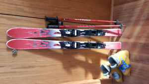 Downhill youth poles, skis and boots $100 obo