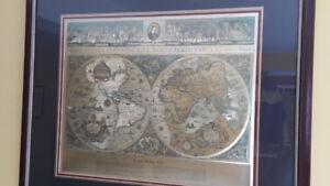 Blaeu World Map - NOVA TOTIVS - Ancient World Map (1600s) - $75