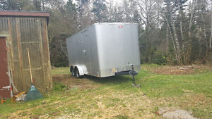 2016 enclosed 16x7 utility trailor