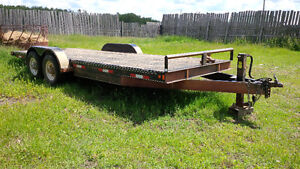Double A Flat Bed trailer