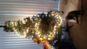 Christmas tree with decoration.