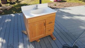 30' Bathroom vanity top and faucet